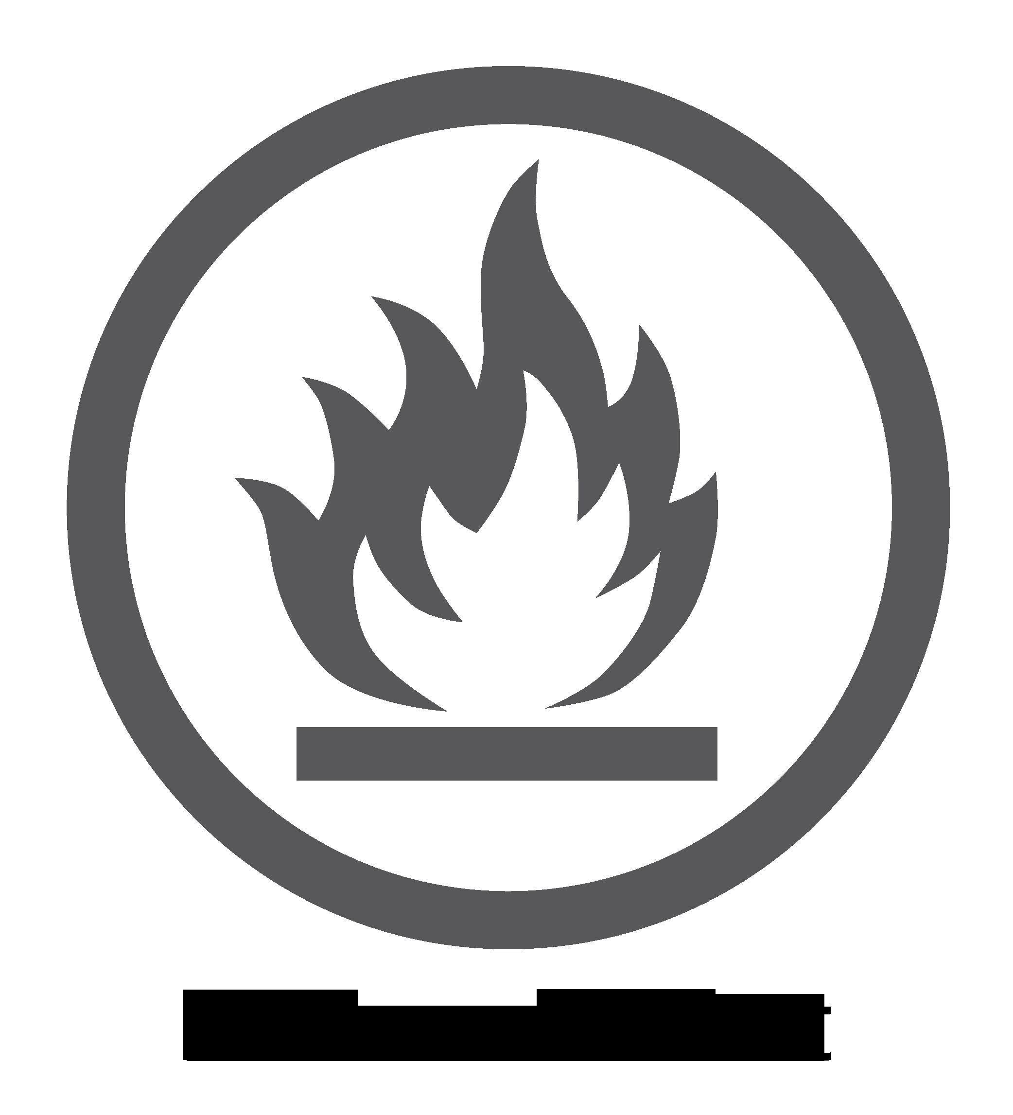 Feuerbeständige Oberfläche – Logo