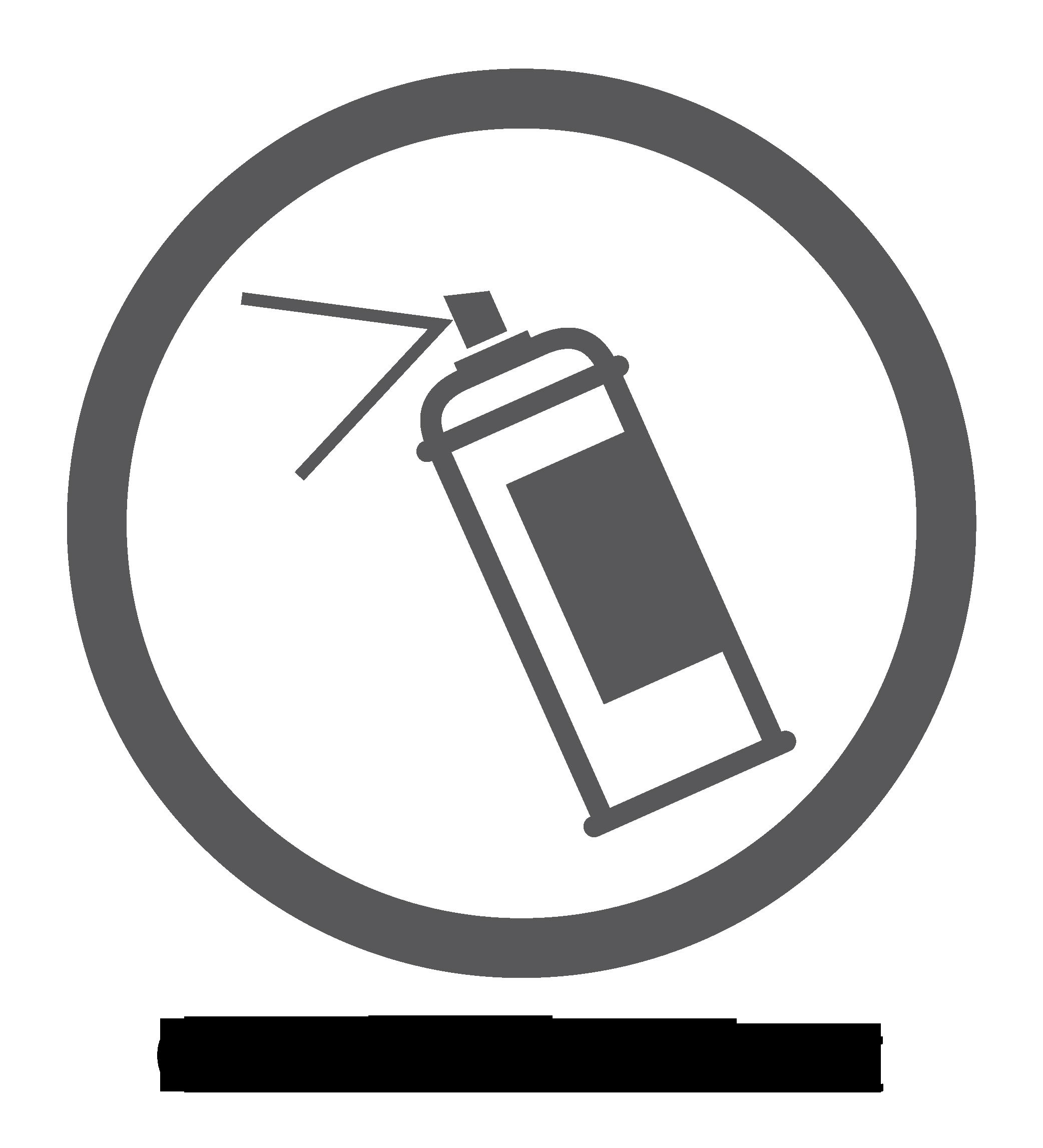 Graffitibeständige Oberfläche – Logo