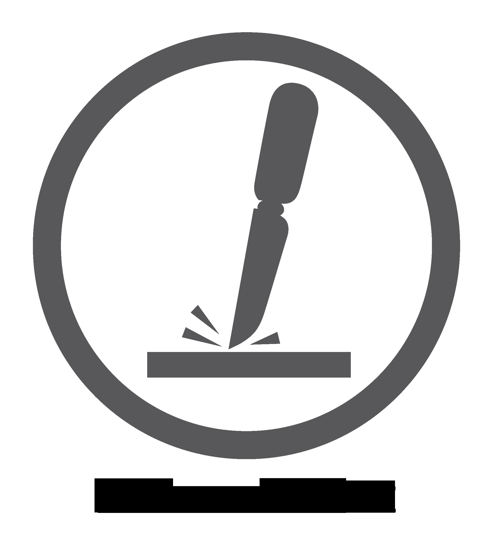 Kratzfeste Oberfläche – Logo